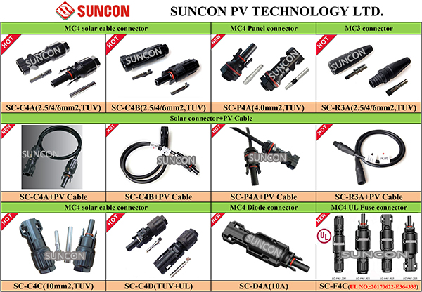 2017 factory price TUV MC4 solar connector with Male and Female and pins
