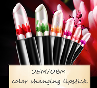 Private label Long Lasting Clear Color Change Flower Lipstick Supplier