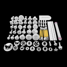 68Pcs/set Fondant Cake Cookie Sugar Craft Decorating Plunger Flowers Modelling Tools Set DIY Cake Cutters Molds Sugarcraft