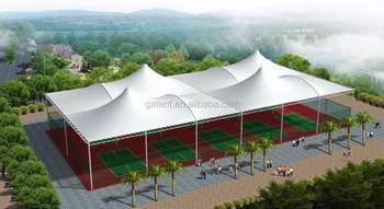 Basketball court Teflon rain shed
