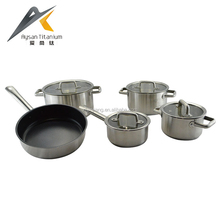 custom size 18 * 8.5cm / 20 * 9.5cm / 24 * 11.5cm straight and cut edge 9pcs indian big cooking pots