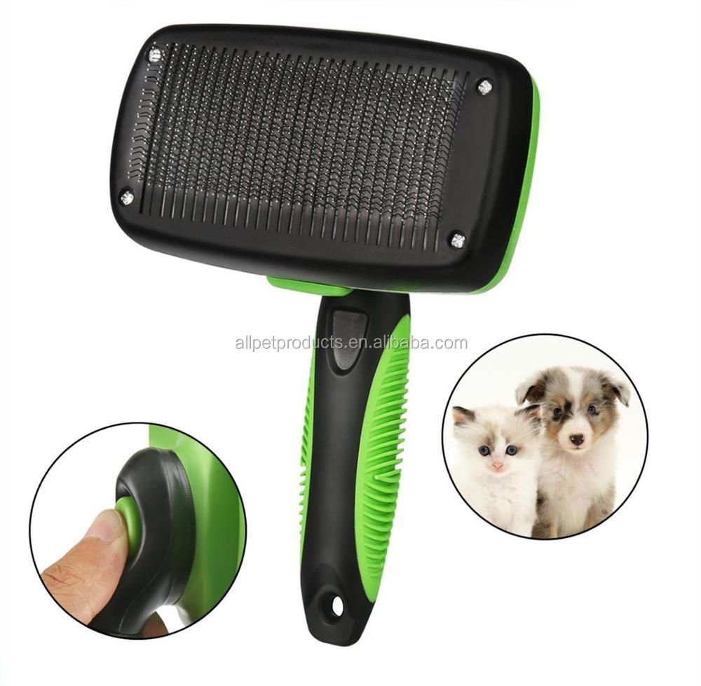 Dog Self Cleaning Pet Grooming Slicker Hair Brush
