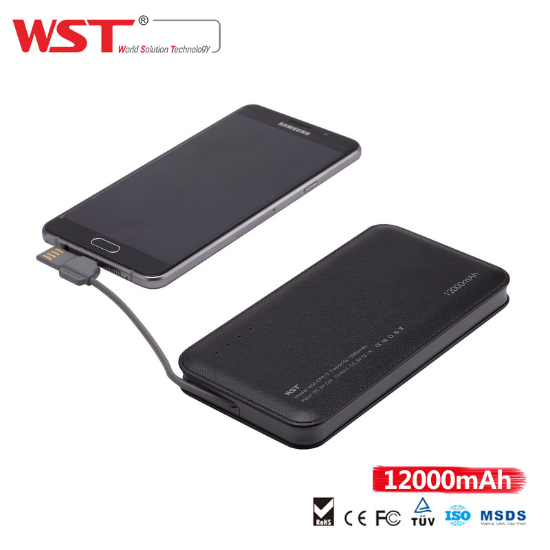 New Product USB portable 5V 2.1A 12000mAh handy power charger for mobile phone