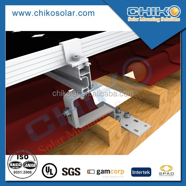Aluminum S Tile Roof solar Mount Racking System