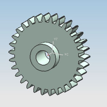 2017 hot sale hight gloss plastic gears for toys mould