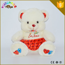 stuffed animal with custom logo shirt soft stuffed animal toys wholesale price little bear plush toys