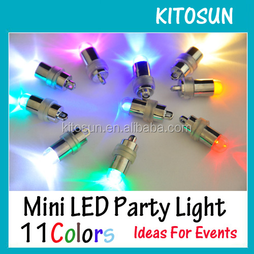 Waterproof Design Mini LED Latex Balloons Party Lights 11Differents Colors Available For Swimming Pool Party Decoration