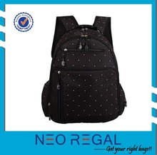 Eco-friendly polyester reusable fashion laptop backpack