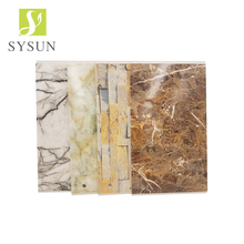 Good quality Artificial Faux Marble PVC stone wall panel for Bathroom wall covering