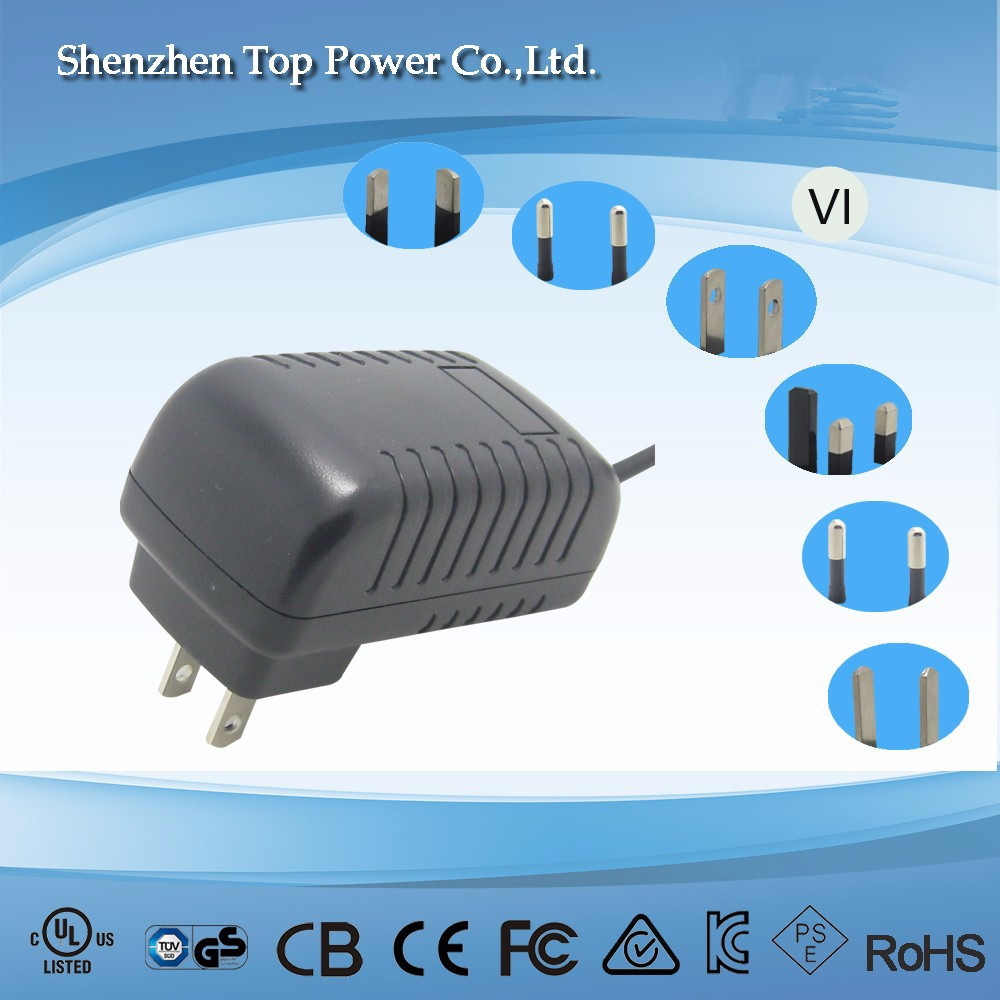 US plug wall mounted 24W ac dc adapter 12v 2a CCTV power supply, 12v 2a fly power switching adapter