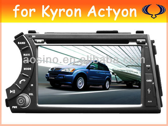 car audio radio car dvd player car gps for SSANGYONG Kyron Actyon with bluetooth gps navigation