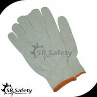 SRsafety pvc dots on palm knit polycotton labor work gloves
