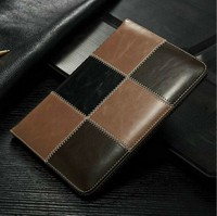 2016 newest leather card holder phone case, leather flip cover case with kickstand function for ipad 5 air