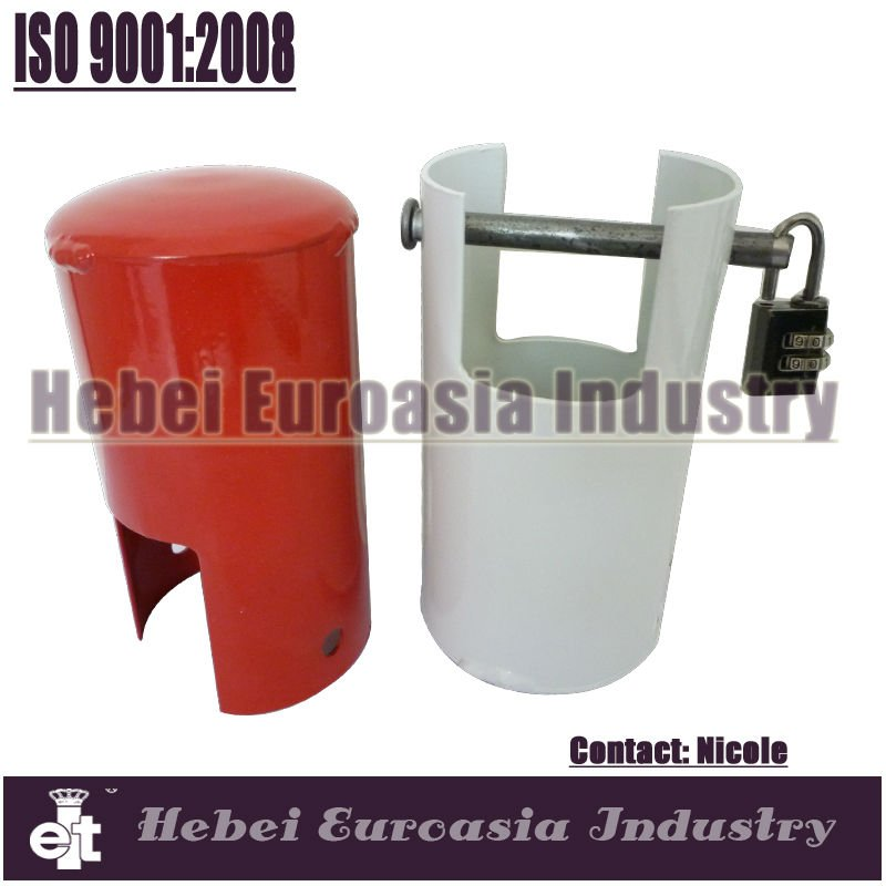Red color epoxy water tap lock/electro plated galvanized tap lock