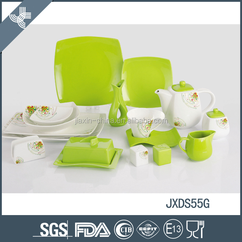 55pcs Competitive price porcelain dinner set eco-friendly wedding dinnerware sets