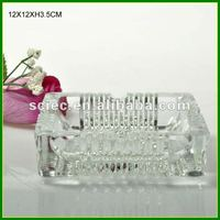 Square Clear Glass Ashtray