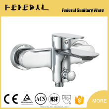 Wall mounted brass single handle shower and bath faucets