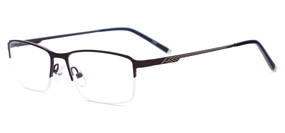 Wholesale Men Lightweight Semi Rimless Metal Eyeglasses ...