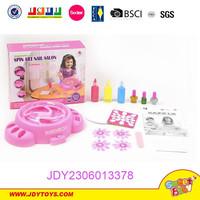 2015 funny for girl kid DIY new educational plastic B/O Spin art nail salon finernails make up toys
