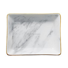 Marble Ceramic Ring Dish Jewelry Dish Ring Holder Jewelry Organizer with Golden Edged Home Decor Wedding Gift