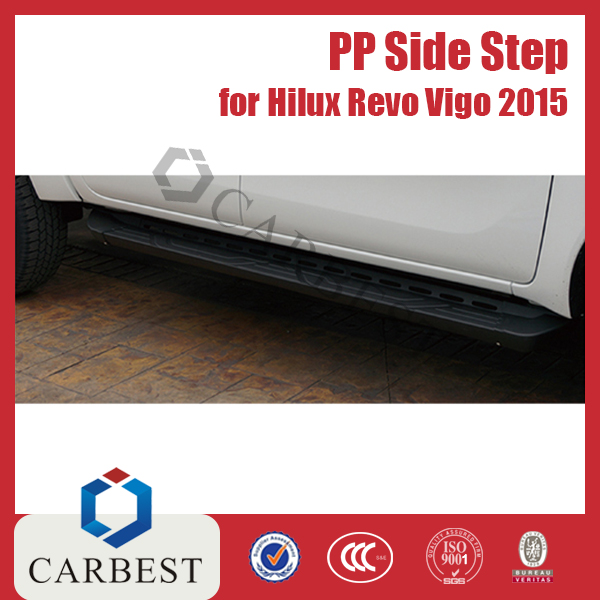 High Quality PP Side Step Bar Running Boards for Toyota Hilux Revo Vigo 2015
