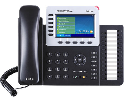 New Grandstream GXP2140 and GXP2160 VoIP Phones with Color LCD Screens