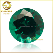 loose round brilliant cut synthetic colombian emeralds for sale
