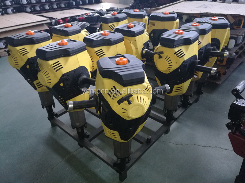 High Quality Gasoline Powered Manual Fence Pile Driver Handheld Guardrail Vibrating Post Driver