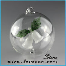 Christmas party balls decoration hand blown glass gazing balls