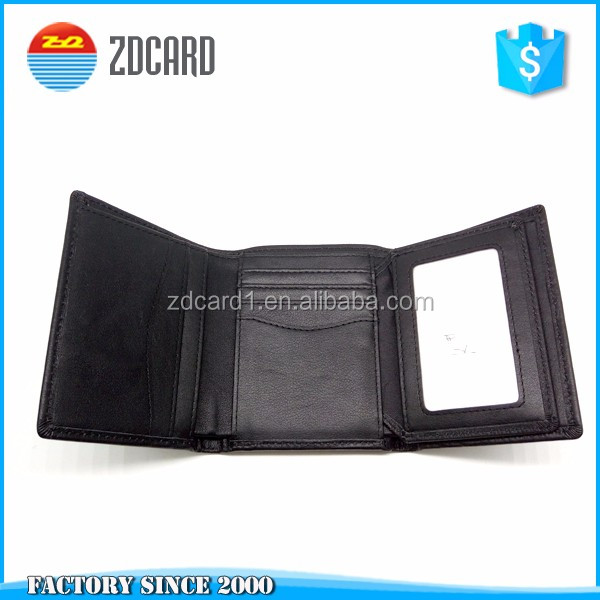 genuine leather PU leather material rfid blocking wallet for your information protection