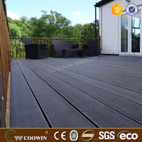 Decking material wood plastic composite laminate floor