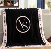 Custom Thick Victoria Secret Plush Fleece Blanket And Throw