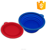 Wholesale Food Grade Kitchen Folding Strainer Vegetable Collapsible Silicone salad bowl with lid