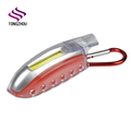 Promotional new design AAA Battery Operated cob bulk mini flashlight with carabiner