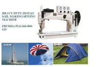 Prussia 366-800-120 super long arm 3 steps zigzag sails making sewing machine similar to Durkopp Adler 366-76-12-HM
