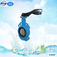 CE Approved Cast Iron Worm Gear Wafer 1 inch Butterfly Valve