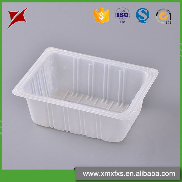 Accept custom PP tofu disposable frozen food container plastic tray