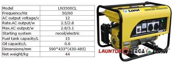 new design 2.5kw gasoline generator