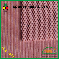 80% polyester 20% spandex stretch fabric/3d sandwich spacer mesh for bag/garment/home textile/toy