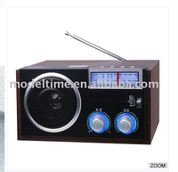 WOODEN RADIO SUPPORT FM/TV/AM/AUX/USB FUNCTION