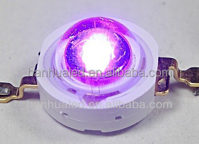 1w UV purple led diode 365nm 395nm-400nm-410nm purple Ultra violet 3W UV high power LED for led plant grow light source