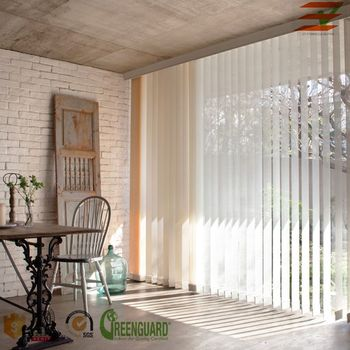 Vertical Blinds China With Printed PVC Slats window blinds