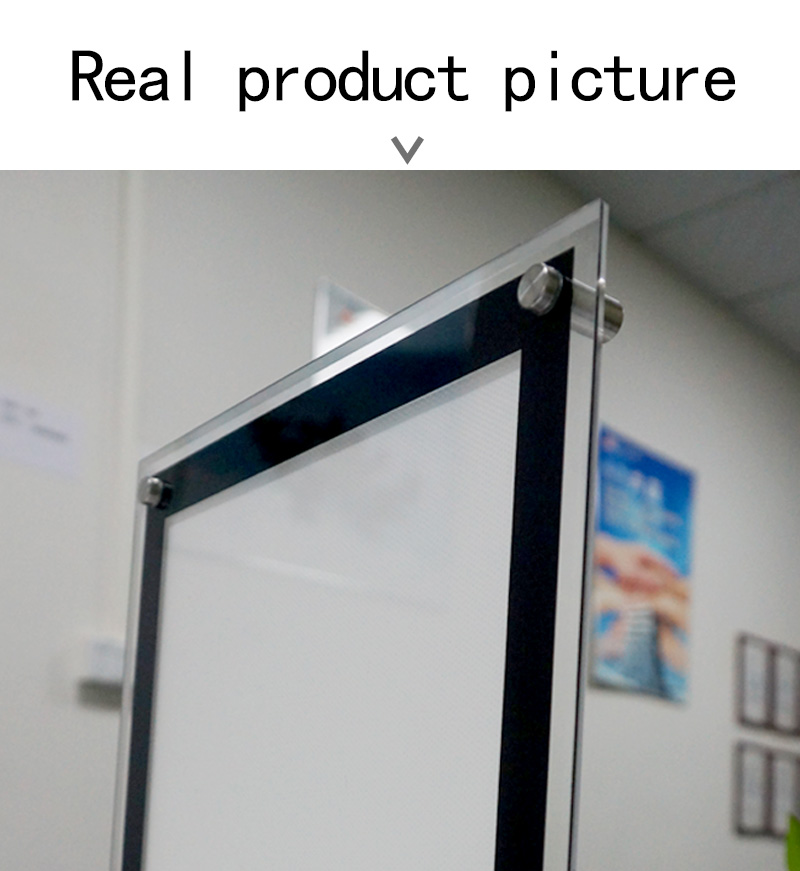 A4 46*37 CM install hanged hook wall glass advertising poster lighting box at street
