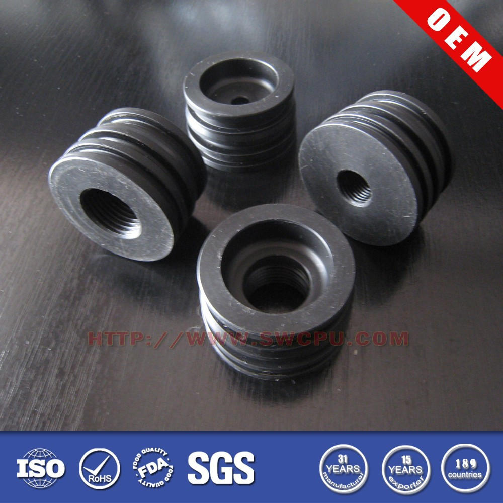 Custom heat resistant silicone rubber round threaded tube insert