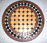 outdoor round mosaic marble table tops
