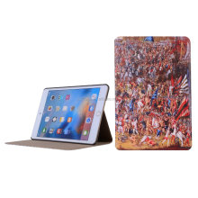 Customized Protective Back PU Leather Tablet Cover For Apple iPad Mini 4 Case