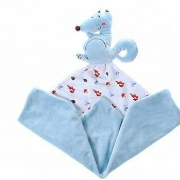 Security Fox Stuffed Blanket for Girls & Boys with Plush Stuffed Animals / OEM fox blanket for baby sleep