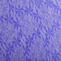 TH-8820 cheap blue beautiful jaquard knitted lace fabric for curtains