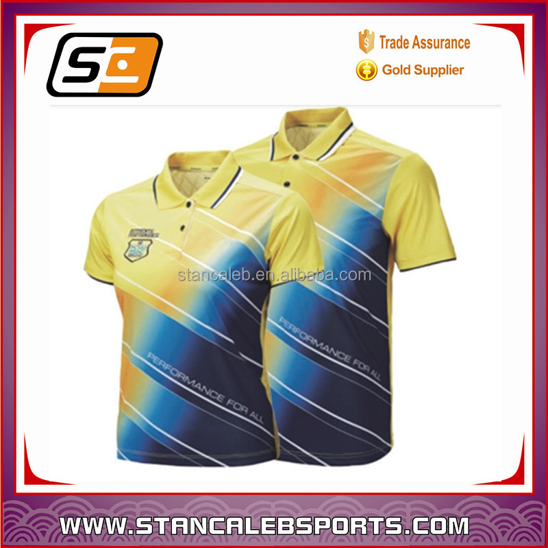 Stan Caleb couple's sublimated table tennis jersey, wholesale cheap tennis shirts, tennis uniform design