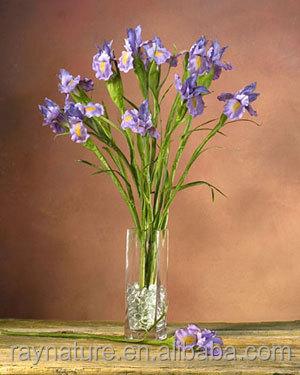 Iris Silk Flower Stem artificial flower arrangements in vases